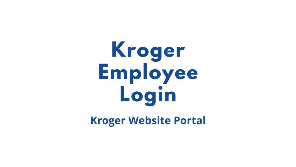 kroger employee login